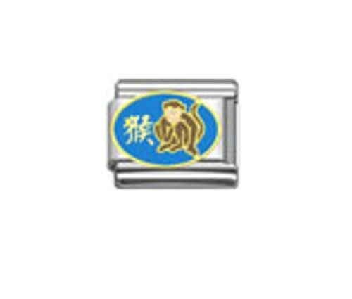 9mm Classic Size Italian Charms Chinese Zodiac Year Of The Monkey
