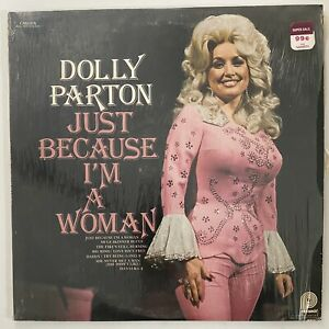 DOLLY PARTON Just Because I'm A Woman compilation LP Canada 1976 shrink VG+/VG+