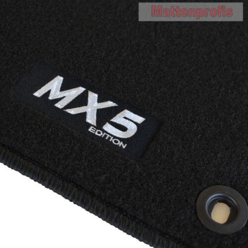 MP Velours Fußmatten Edition sw für Mazda MX-5 MX5 II NB ab Bj.03//1998-2005