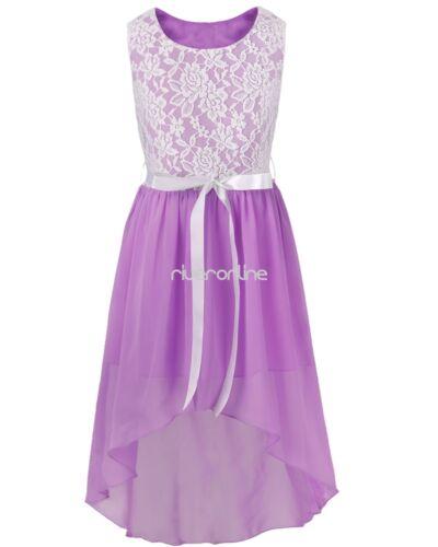 Mädchen Tüll Sommer Kleid Blumenmädchen Festlich Hochzeit Festzug Sommerkleider