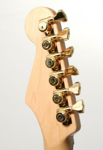 Hipshot Gold Open Griplock Locking 6 Inline Tuners UMP Upgrade Kit non-staggered