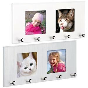 schl sselbord mit bilderrahmen edelstahl mit fotorahmen foto schl sselbrett ebay. Black Bedroom Furniture Sets. Home Design Ideas