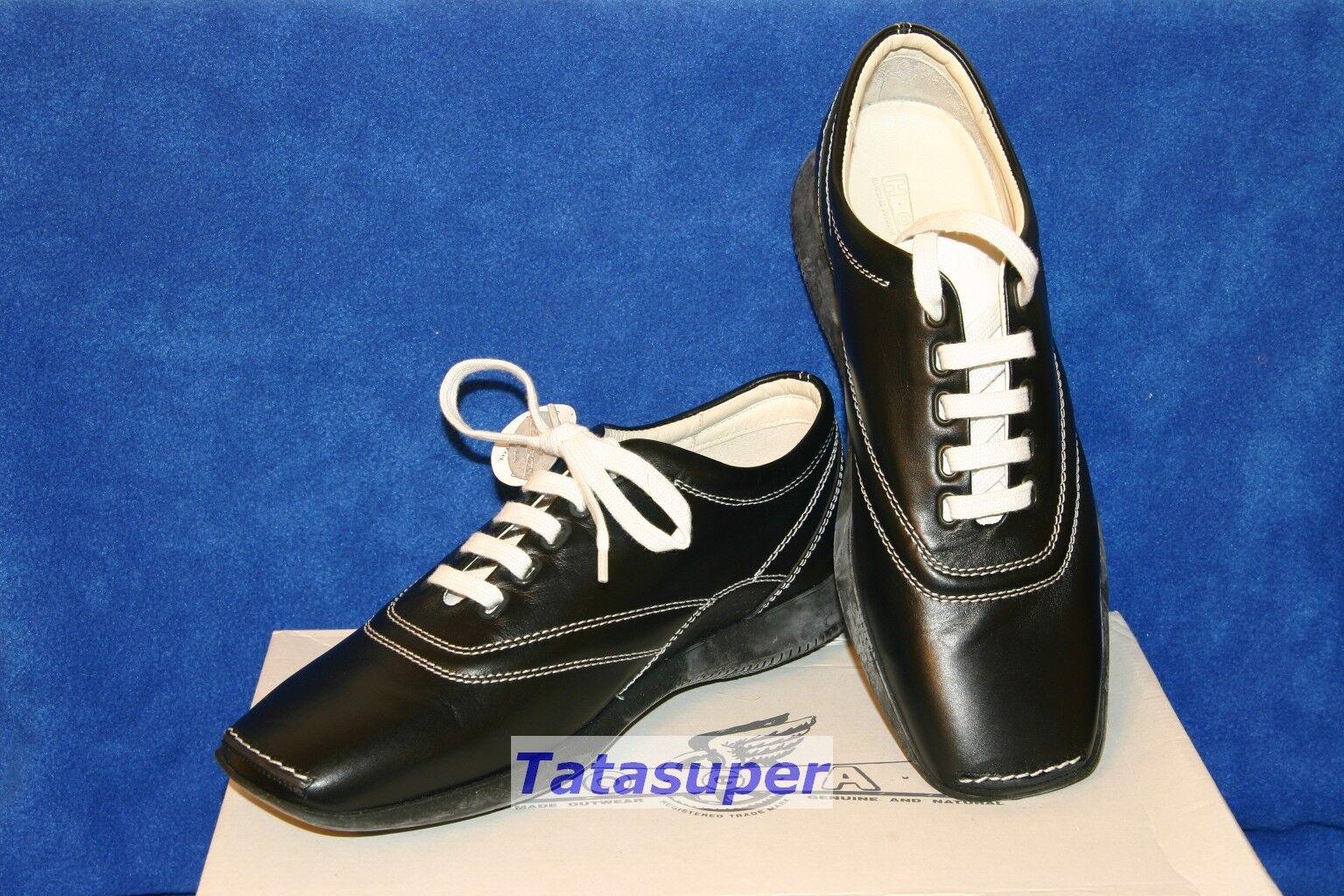 100% Auténtico Auténtico Auténtico Hogan tenis zapatos talla 38-Negro  muchas concesiones