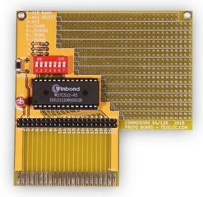 TexElec/'s Commodore 64//128 Cartridge Expansion Port Prototype Card w// EEPOM v1