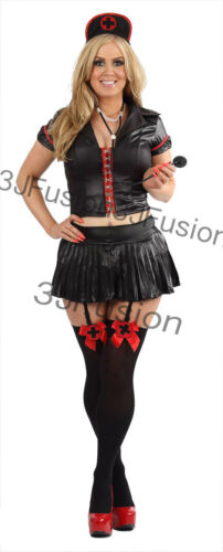BN Adult Naughty Nurse Costume Ladies Fancy Dress Hen Party Gothic FREE POST