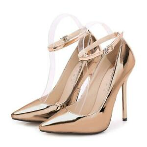 Ladies-Formal-Dress-Shoes-Pointed-Toe-Business-Shiny-High-Slim-Heel-Court-Shoes