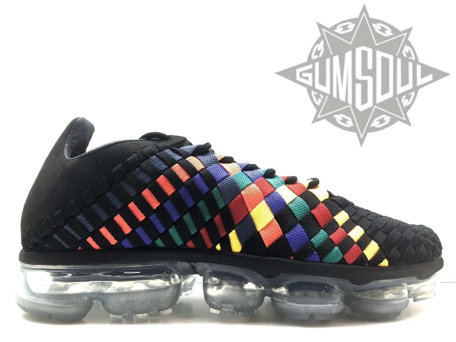 NIKE AIR VAPORMAX INNEVA BLACK GLACIER blueE MULTI-COLOR AO2447 001 sz 10