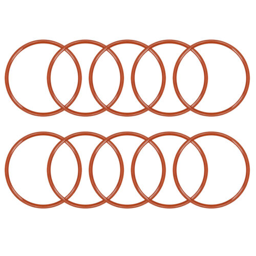 10pcs Silicone O-Ring 33mm-75mm OD 2.4mm Width VMQ Seal Rings Sealing Gasket Red