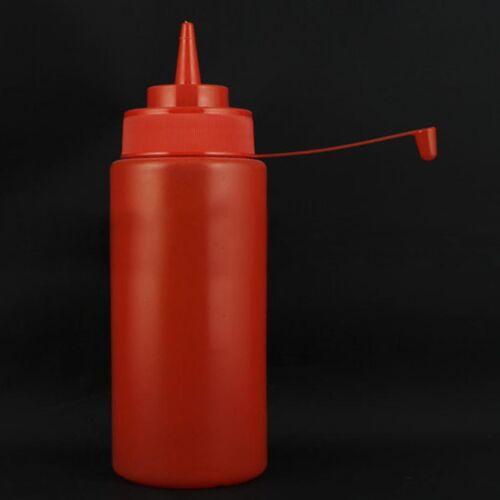8-32 oz Plastic Squeeze Bottle Condiment Distributeur ketchup vinaigrette Cuisine