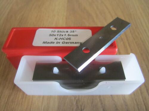 HW HM Hartmetall Wendeplatten Wendemesser 50 x 12 x 1,5 mm Z 2 Neu 10 Stück
