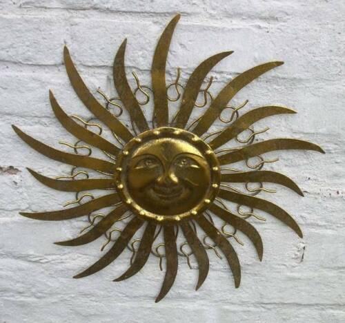 Sonne Perfekte traumschöne Wanddekoration golden patiniert Eisen 47 cm
