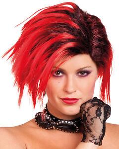 Punk Rock Star Perucke Fur Damen Neu Karneval Fasching Perucke