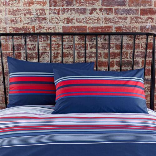 Charlotte Thomas Ashton à rayures en Polycoton Housewife taies d/'oreiller paire bleu//rouge