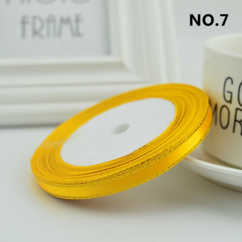 6mm 25 Yards//22m Silk Satin Gold Ribbons Wedding Decor Gift Wrapping DIY Crafts