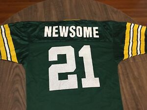 ac4dd7e5c38 Vintage Craig Newsome 21 Green Bay Packers Size 40/Small Champion ...