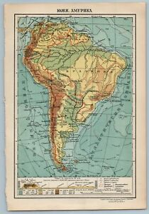 South America By Ggk Vsnh Ussr Soviet