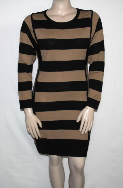 e532c920a4 NEW Lennie for Nina Leonard SIze LARGE Long Sleeve Striped Casual Sweater  Dress