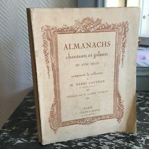 Almanach Cuenco Y Galants Eduardiano Siglo Colección Henri Lavedan Giraud 1928