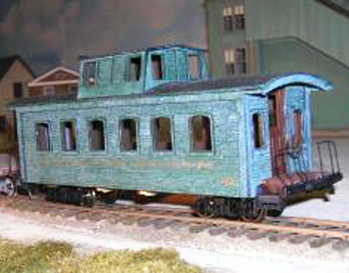 UNION PACIFIC ARCH WINDOW CABOOSE Model Railroad On3 On30 Laser Laser Laser Wood Kit DF112 4a424a
