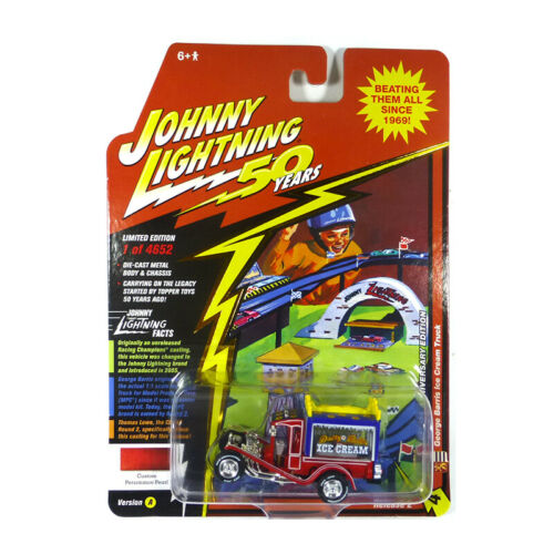 "Johnny Lightning JLCG020-A4 George Barris /""Ice Cream/"" Truck rot//blau 1:64 NEU!°"