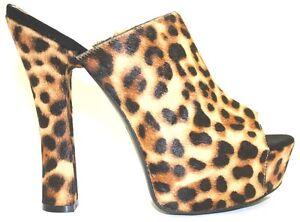 Details about Women's Shoes Jessica Simpson FINNIE 2 Platform Open Toe Mules NATURAL CHEETAH
