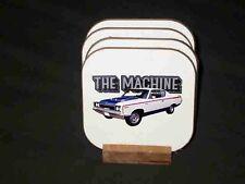 "New 1970 AMC Rebel ""The Machine"" Hard Coaster set!"