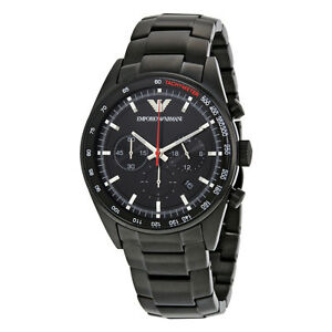 Emporio Armani Sportivo Men s Watch AR6094 Black Stainless Steel ... 01ce3a49ad