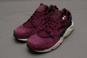 30a33a55ee799 NIKE AIR HUARACHE RUN PREMIUM - BORDEAUX BLACK LIGHT BONE 704830-603 ...