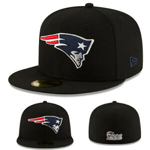 New-Era-NFL-New-England-Patriots-5950-Fitted-Hat-Black-Official-Game-Tom-Brady