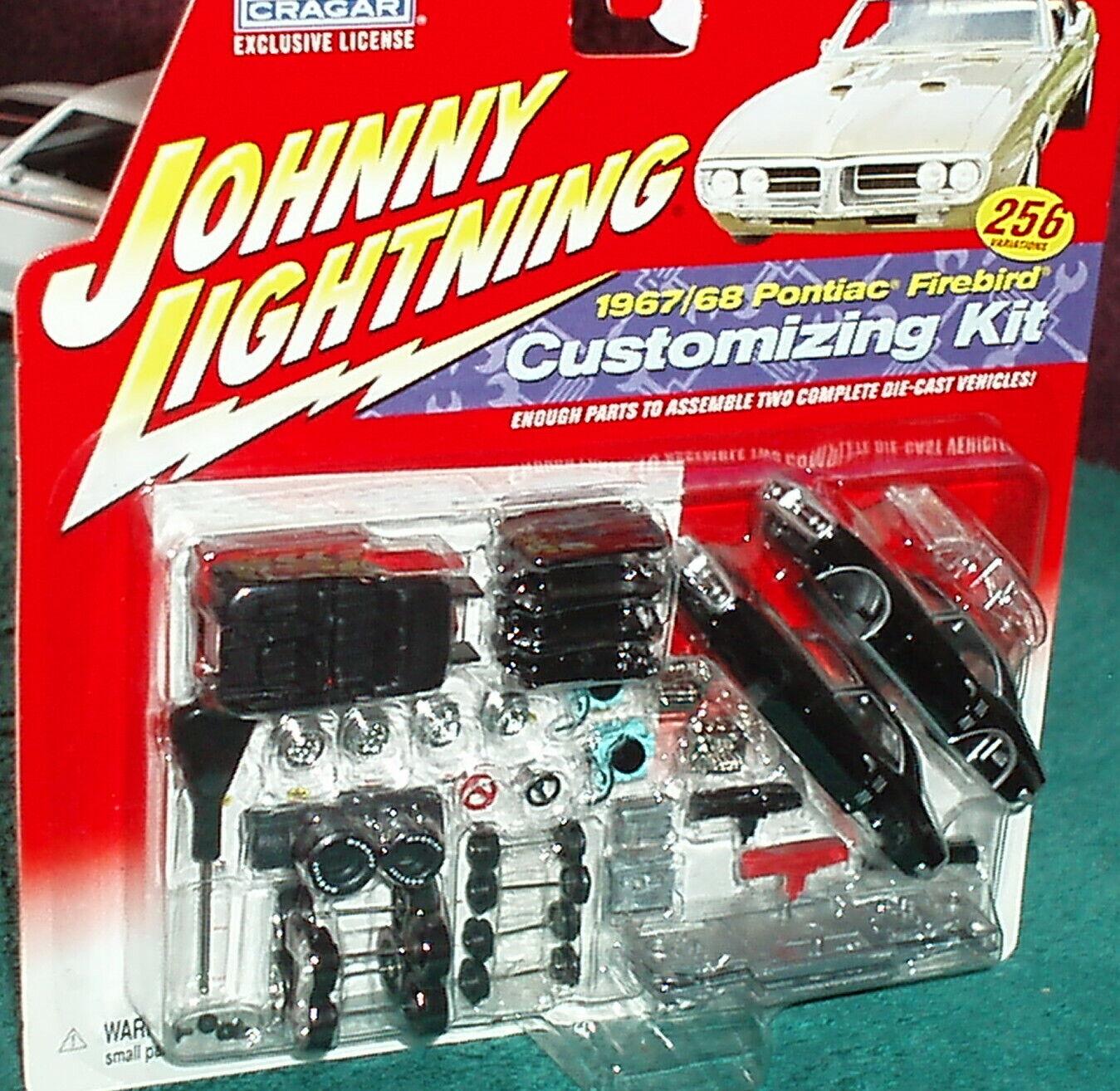 servicio de primera clase Johnny Lightning 1967 1968 Pontiac Firebird 2 2 2 en 1 Modelo Kit Set Negro  mejor marca
