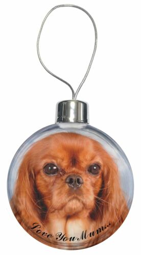 AD-SKC3lymCB Ruby King Charles /'Love You Mum/' Christmas Tree Bauble Decoration