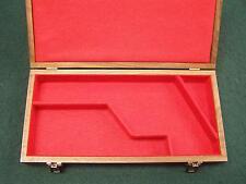 PISTOL GUN PRESENTATION CASE WOOD BOX COLT SAA SINGLE ACTION ARMY COWBOY 4¾ LONG