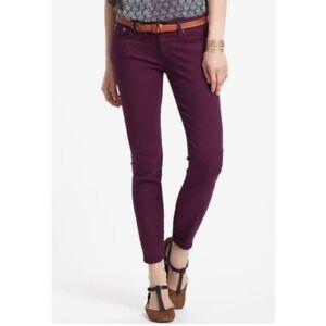 Adriano Goldschmied Women's Stilt Cigarette Leg Jeans Purple Size 27 Skinny