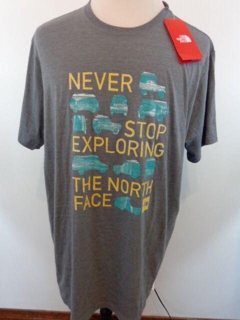 The North Face Mens Triblend Clutch TEE t shirt XXL Slim Fit