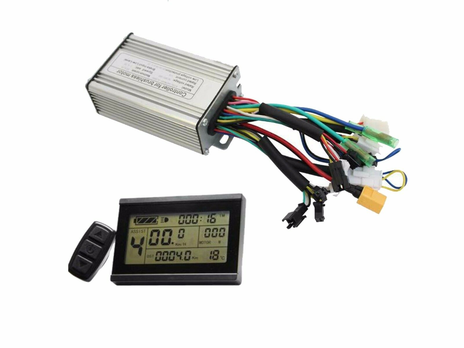 ON SALE Hallomotor Ebike LCD3+Controller 36 48V 500-750W 25A Reg Reverse