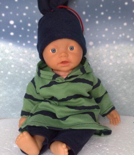 Kleid mit Zipfelmütze,Hose und Mütze passend für Little Baby Born 32 cm Neu Kleidung & Accessoires