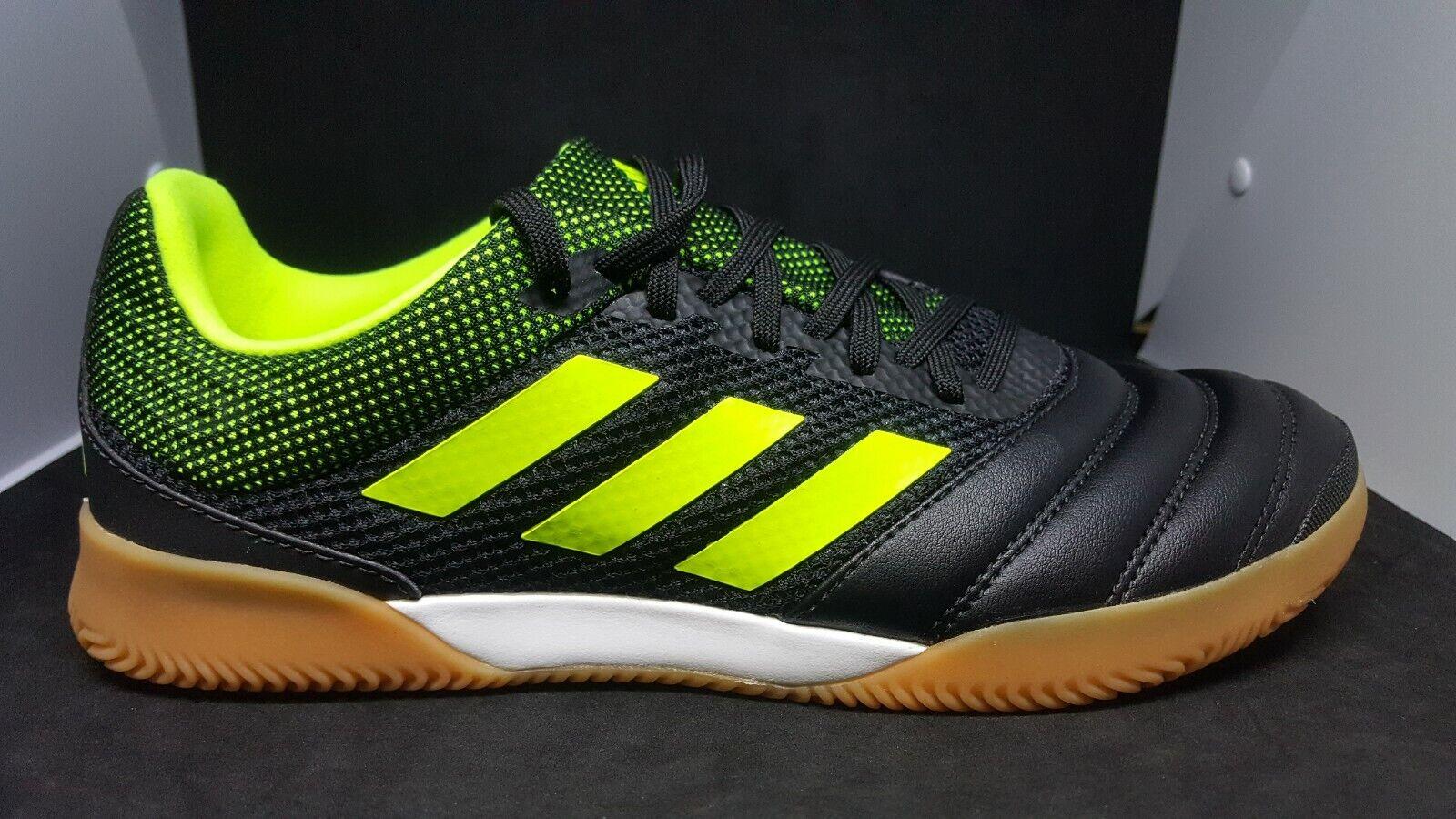 Adidas Copa 19.3 Indoor Sala Black Yellow Gum Indoor Soccer shoes  BB8093