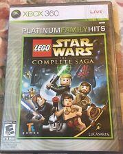 LEGO Star Wars: The Complete Saga (Microsoft Xbox 360, 2008) Platinum Family Hit