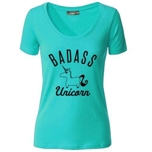 Damen T-Shirt Always Badass Unicorn Be Yourself Unless You Can Be Einhorn 02