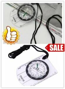 Scouts Military Compass Scale Ruler Baseplate Mini For Hiking Compass