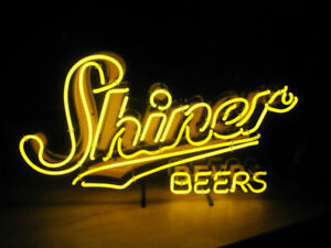Image Is Loading New Shiner Beers Texas Lamp Neon Light Sign