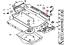 BMW 3 Touring E46 Boot Trunk Floor Holder Strap 51477008051 NEW GENUINE