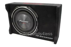 """New Pioneer TS-SWX2502 1200W RMS 10/"""" Loaded Shallow Truck Subwoofer Enclosure"""