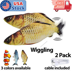 2-Pack-Cat-Wagging-Fish-Realistic-Plush-Simulation-Interactive-Fish-Toys