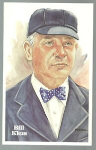 67-BILL-KLEM-Perez-Steele-Hall-of-Fame-Postcard