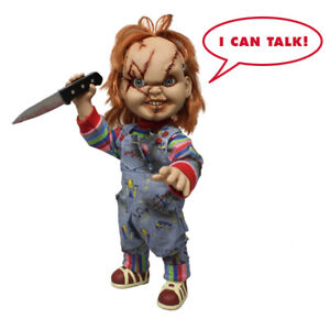 Talking-Chucky-38cm-Mega-Scale-Doll-Horror-Puppe-Childs-Play-15-034-Figur-Mezco