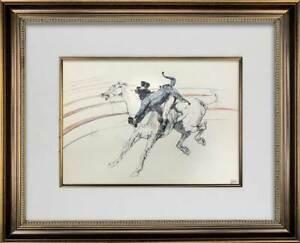 Henri de Toulouse-Lautrec LTD Ed. Lithograph | Circus Series w/Frame Included