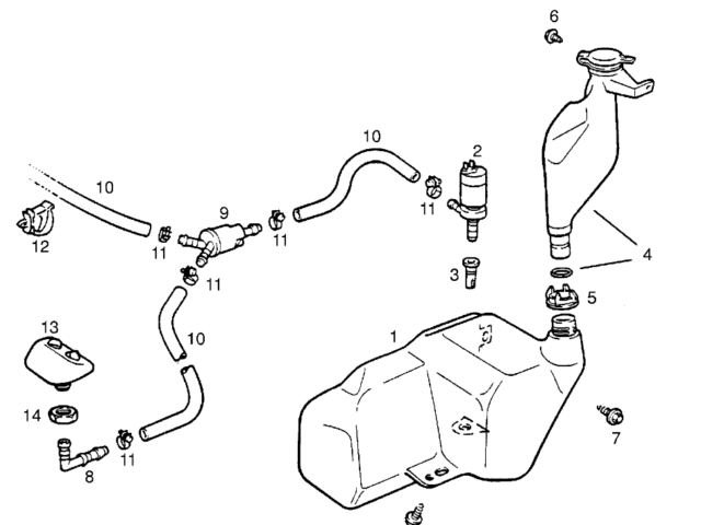 Genuine Vauxhall Calibra Astra F Headlamp Washer Reservoir Pump
