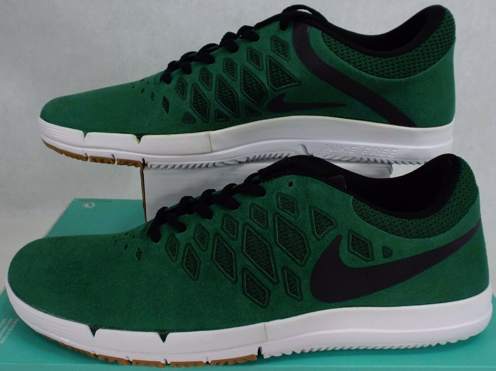 New Mens 13 NIKE Free SB Gorge Green Suede shoes  120 704936-303