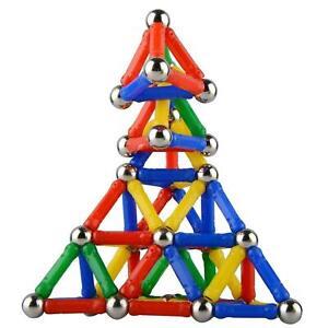 107-Teile-Blocks-Magnetic-Building-Spielzeug-Magnetische-Kinder-Bloecke-Baus-O3S8